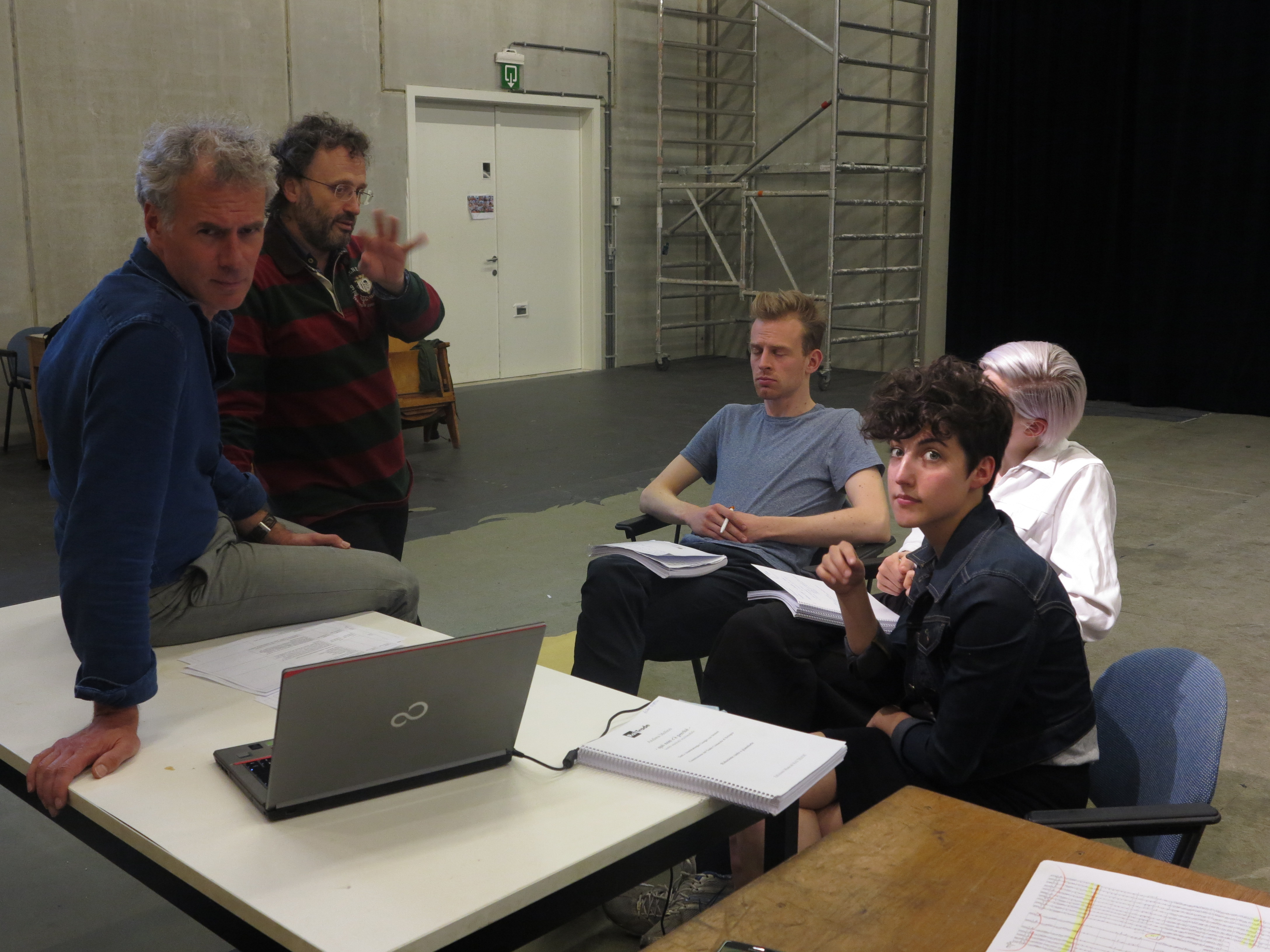 Day I - rehearsal  'there is no why here' -  from 11 untill 22 May - reunion
